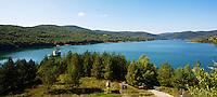View of Starina reservoir. Close to Jalova village, Slovakia.