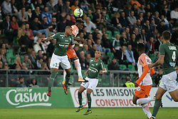 October 20, 2017 - Saint Etienne - Stade Geoffroy, France - Gabriel Silva (saint etienne) vs Nordi Mukiele  (Credit Image: © Panoramic via ZUMA Press)