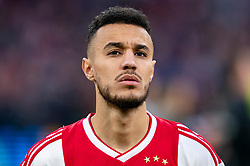 08-05-2019 NED: Semi Final Champions League AFC Ajax - Tottenham Hotspur, Amsterdam<br /> After a dramatic ending, Ajax has not been able to reach the final of the Champions League. In the final second Tottenham Hotspur scored 3-2 / Noussair Mazraoui #12 of Ajax