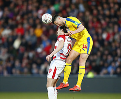 February 17, 2019 - Doncaster, United Kingdom - Crystal Palace's Martin Kelly.during FA Cup Fifth Round between Doncaster Rovers and Crystal Palace at Keepmoat stadium , Doncaster, England on 17 Feb 2019. (Credit Image: © Action Foto Sport/NurPhoto via ZUMA Press)