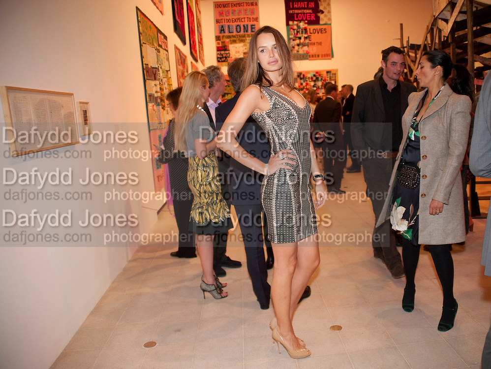 MASHA MARKOVA, Opening of Love is what you want. Exhibition of work by Tracey Emin. Hayward Gallery. Southbank Centre. London. 16 May 2011. <br /> <br />  , -DO NOT ARCHIVE-© Copyright Photograph by Dafydd Jones. 248 Clapham Rd. London SW9 0PZ. Tel 0207 820 0771. www.dafjones.com.
