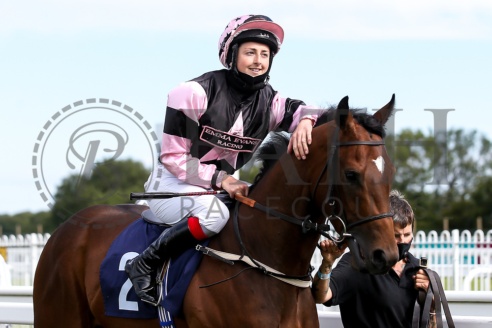 The Golden Unicorn ridden by Gina Mangan and trained by David Evans - Mandatory by-line: Robbie Stephenson/JMP - 18/07/2020 - HORSE RACING- Bath Racecourse - Bath, England - Bath Races 18/07/20