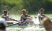 12/07/03/03 .2003 FISA Rowing World Cup - Lucerne.- Switzerland, GBR M4+, centre  Dan OUSLEY Rowing Course, Lake Rottsee, Lucerne, SWITZERLAND. [Mandatory Credit: Peter Spurrier:intersport Images]
