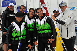 Ice Hockey palyers from the Elitserin Hockey League join Ian Williams for the Celebrity Race at the Stena Match Cup 11. Photo: Chris Davies/WMRT