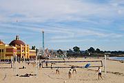 Volleyball, Santa Cruz Beach,  California, USA