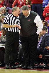 15 January 2016: Gerry Pollard and Marty Simmons during the Illinois State Redbirds v Evansville Purple Aces at Redbird Arena in Normal Illinois (Photo by Alan Look)