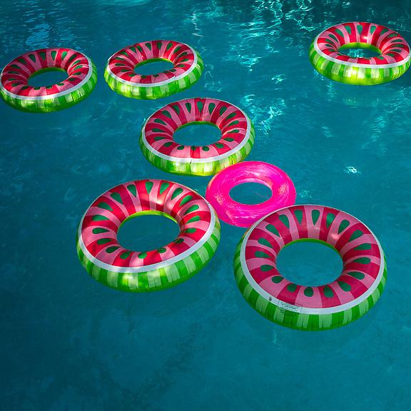 Watermelon pool floats