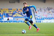 AFC Wimbledon striker Joe Pigott (39) dribbling during the EFL Sky Bet League 1 match between AFC Wimbledon and Hull City at Plough Lane, London, United Kingdom on 27 February 2021.