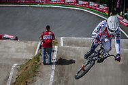 #157 (DEUMIE Valentin) FRA during round 4 of the 2017 UCI BMX  Supercross World Cup in Zolder, Belgium.