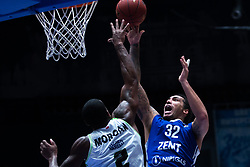 November 8, 2017 - Saint Petersburg, Russia - Raymar Morgan of Tofas Bursa (L) and Drew Gordon of Zenit St. Petersburg vie for the ball during the EuroCup Round 5 regular season basketball match between Zenit St. Petersburg and Tofas Bursa at the Yubileyny Sports Palace in St. Petersburg, Russia, November 08, 2017. (Credit Image: © Igor Russak/NurPhoto via ZUMA Press)