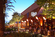 Roy's Hawaiian Fusion Cuisine at the Anaheim Garden Walk at Dusk