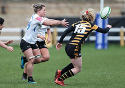 Rachel Johnson of Exeter Chiefs is marked by Abby Dow of Wasps  - Mandatory by-line: Arron Gent/JMP - 06/03/2021 - RUGBY - Twyford Avenue - Acton, England - Wasps FC Ladies v Exeter Chiefs Women - Allianz Premier 15s