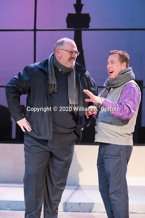 """The Bas Bleu Theatre Company rehearses its production of """"The Best Brothers,"""" January 16, 2020."""