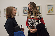 BECKY HOBBIS; MIA MORE, Francesco Clemente Private view,  Emblems of Transformation. Blain Southern. London. 28 April 2015