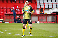 Romain Vincelot of Stevenage during the EFL Sky Bet League 2 match between Stevenage and Barrow at the Lamex Stadium, Stevenage, England on 27 March 2021.
