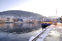 Early Morning Bergen Harbor. Image taken with a Nikon Dxs and 12-24 mm f/4 lens (ISO 800, 12 mm, f/4, 1/50 sec)