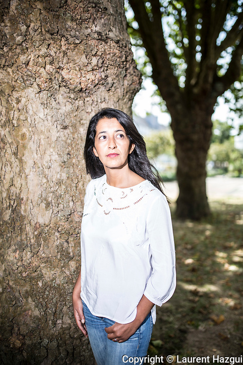 26082016. Lorient. Université d'été de Lorient. Portrait de Karima Delli, candidate à la primaire d'EELV.