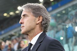 June 4, 2018 - Turin, Piedmont, Italy - Roberto Mancini, head coach of Italy National Team,   before the friendly football match between Italy and Holland at Allianz Stadium on June 04, 2018 in Turin, Italy. Final result: 1-1  (Credit Image: © Massimiliano Ferraro/NurPhoto via ZUMA Press)