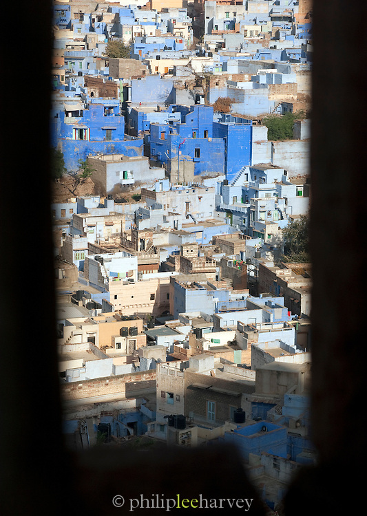 View of Jodhpur, referred to as the Sun City or the Blue City, Rajasthan, India