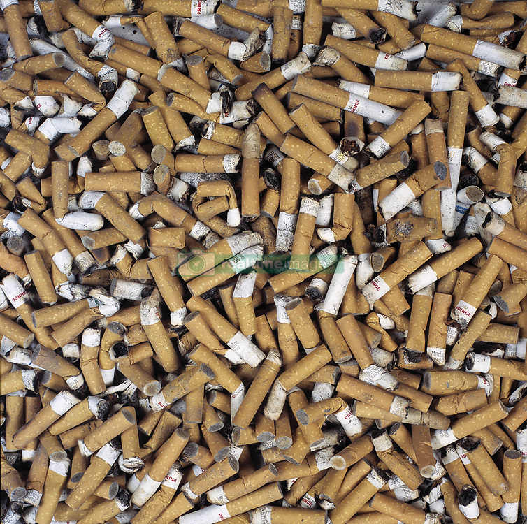 Undated file photo of cigarette butts. A French study found that only 4.4% of 350 coronavirus patients hospitalized were regular smokers and 5.3% of 130 homebound patients smoked. This pales in comparison with at least 25% of the French population that smokes. Researchers theorized nicotine could prevent the virus from infecting cells or that nicotine was preventing the immune system from overreacting to the virus. To test this theory, hospitalized coronavirus patients, intensive care patients and frontline workers nicotine patches. Photo by ANDBZ/ABACAPRESS.COM