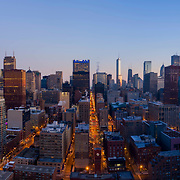 Chicago Aerial View Above Dearborn Park