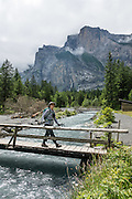 Walk through the deeply glaciated valley of Gasterntal (or Gasteretal or Gasterental) to explore the headwaters of the Kander River. A nice 7 km walk with 390 m gain up to Selden starts from the bus stop for Luftseilbahn Kandersteg-Sunnbüel. From Selden, take Postbus back (reservations required) to Kandersteg hauptbahnhof. Gasterntal is in the canton of Bern, Switzerland, Europe. For licensing options, please inquire.