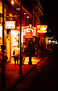 People out on the streets in the French Quarter, New Orleans, Louisiana, USA 1989