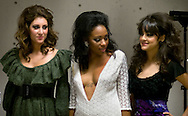 Omaha, NEB 9/19/09.Models who are wearing Juantiesha Christian whose line is  SuShe by JTracey, wait backstage...Chris Machian/The World-Herald