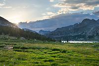 Middle Fork Lake valley. Bridger Wilderness. Wind River Range, Wyoming