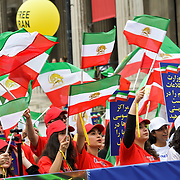 Anti-Iran movement rally demand for a regime change, London, UK