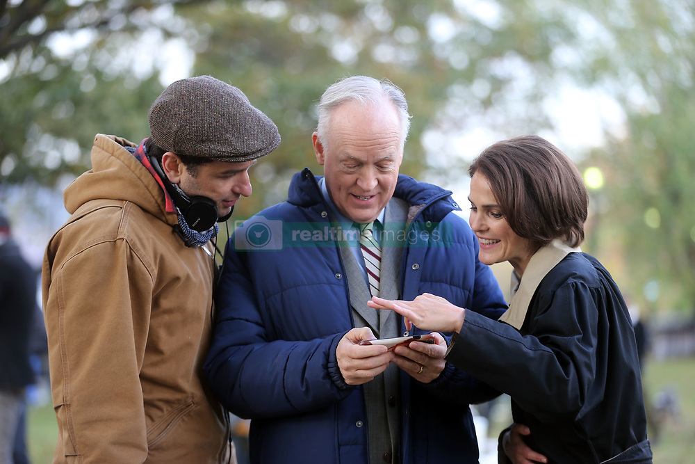 """EXCLUSIVE: Keri Russell filming """"The Americans"""" with this episode being directed by her boyfriend / co-star Matthew Rhys. 10 Nov 2017 Pictured: Keri Russell, Matthew Rhys. Photo credit: SteveSands/NewYorkNewswire/MEGA TheMegaAgency.com +1 888 505 6342"""