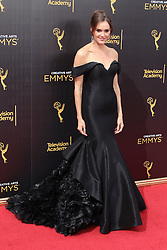 . Erinn Hayes   attends  2016 Creative Arts Emmy Awards - Day 2 at  Microsoft Theater on September 11th, 2016  in Los Angeles, California.Photo:Tony Lowe/Globephotos