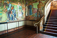 Beach Chalet WPA Murals - The Beach Chalet is located above the Golden Gate Park Visitor's Center.  The building features historic WPA frescoes created by Lucien Labaudt in the 1930's. The artwork captures the flavor of San Francisco in that era in a style of the Arts and Crafts movement.  Fans of the style, and Art Deco will appreciate the WPA works which allowed art projects like this to exist during such hard times..