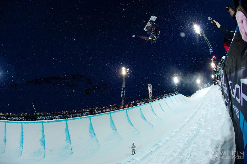 Markus Malin during Men's Snowboard SuperPipe Eliminations at the 2013 X Games Tignes in Tignes, France. ©Brett Wilhelm/ESPN