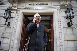 © Licensed to London News Pictures. 07/11/2019. London, UK. Former Labour MP IAN AUSTIN is seen in Westminster, London following an interview in which he called for people to vote for the Conservative party in order to keep Jeremy Corbyn out of Downing Street. A general election has been called on December 12th in an attempt to get a Brexit agreement through parliament. Photo credit: Ben Cawthra/LNP
