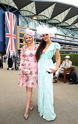 Dorota Szkopanska (left) Angela Szachowska arriving during day one of Royal Ascot at Ascot Racecourse.