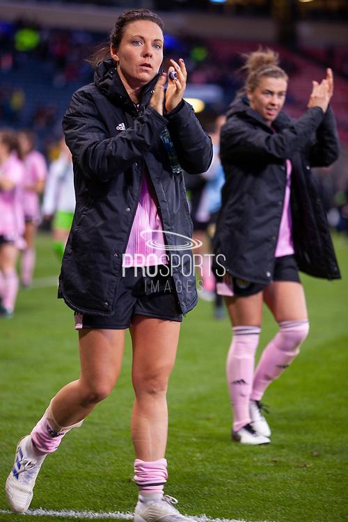 Scotlands Rachel CORSIE (Utah Royals FC (USA)) applauds the fans following their win over Jamaica during the International Friendly match between Scotland Women and Jamaica Women at Hampden Park, Glasgow, United Kingdom on 28 May 2019.