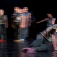 Members of the Shen Wei Dance Arts company perform the piece Map choreographed by Chinese born American artist Shen Wei in Budapest, Hungary on April 27, 2011. ATTILA VOLGYI