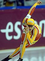 Skøyter: Verdenscup Heerenveen 12.01.02. Catriona LeMay-Doan fra Canada.<br /><br />Foto: Ronald Hoogendoorn, Digitalsport