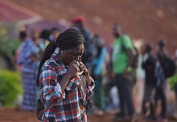 FREETOWN, Aug. 17, 2017  A woman grieves over the death of her relative on the site of the mudslide in Freetown, capital of Sierra Leone, on Aug. 17, 2017. Altogether 331 bodies have been taken to the morgue by the rescue team following the devastating mudslide, according to Sinneh Kamara, head of the Connaught Mortuary in Freetown, capital of Sierra Leone, on Thursday. (Credit Image: © Chen Cheng/Xinhua via ZUMA Wire)