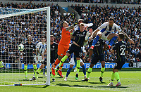 BRIGHTON, ENGLAND - MAY 12:    Glenn Murray (17) of Brighton and Hove Albion scores a goal to give a 1-0 lead to the home team  during the Premier League match between Brighton & Hove Albion and Manchester City at American Express Community Stadium on May 12, 2019 in Brighton, United Kingdom. (MB Media)