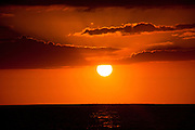 Sunset over the ocean in Rincon Puerto Rico (photo by Charleston SC photographer Richard Ellis)