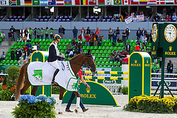 Sandra Auffarth, (GER), Opgun Louvo World champion in the indvidual Eventing - Alltech FEI World Equestrian Games™ 2014 - Normandy, France.<br /> © Hippo Foto Team - Leanjo De Koster<br /> 31-08-14