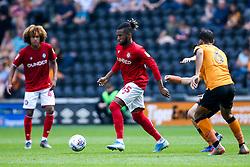 Kasey Palmer of Bristol City takes on Kevin Stewart of Hull City - Mandatory by-line: Robbie Stephenson/JMP - 24/08/2019 - FOOTBALL - KCOM Stadium - Hull, England - Hull City v Bristol City - Sky Bet Championship