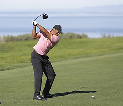 January 27, 2019 - San Diego, CA, USA - Tiger Woods tees off on the 4th hole during the fourth round of the Farmers Insurance Open at the Torrey Pines Golf Course in San Diego on Sunday, Jan. 27, 2019. (Credit Image: © K.C. Alfred/San Diego Union-Tribune/TNS via ZUMA Wire)