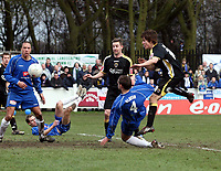 Photo: Mark Stephenson.<br /> Chasetown v Cardiff City. FA Cup Third Round. 05/01/2008.<br /> Cardiff's Alan Ramsey (R) scores for 2-1