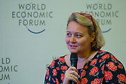 Leanne Kemp, Chief Executive Officer and Founder, Everledger, United Kingdom during the session: The Future Is Platforms at the World Economic Forum - Annual Meeting of the New Champions in Tianjin, People's Republic of China 2018.Copyright by World Economic Forum / Greg Beadle