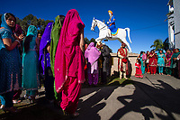 Woolgoolga, Australia | 2011<br /> Sikhs gather for a wedding at the Guru Nanak Temple. Woolgoolga is home to the largest Sikh community in Australia, many of whom are banana growers. Sikhs took up banana farming in Australia in the 1940s when mechanization came to the sugar cane industry in Queensland, where many of them had worked as laborers. Today, the Sikh community in Woolgoolga is prosperous, having diversified into blueberries, hydroponic vegetables, and other business ventures.