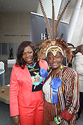 l to r: Cybil Chester and Una Clarke at the 42nd Annual West Indian Day Carnival Reception co-sponsored by Hennessey, USA and held at The Brooklyn Museum along  on September 7, 2009 in Brooklyn, NY