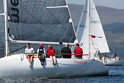 Silvers Marine Scottish Series 2017<br /> Tarbert Loch Fyne - Sailing<br /> <br /> GBR6521, Trastada, Roddy Angus/D Challis, FYC, Half Tonner<br /> <br /> Credit Marc Turner / PFM